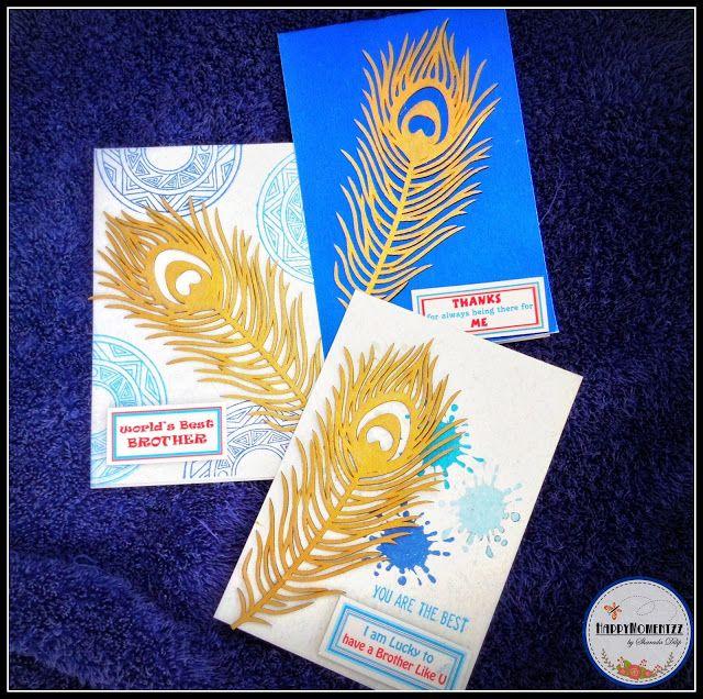 HappyMomentzz crafting by Sharada Dilip: Rakhi cards 2016