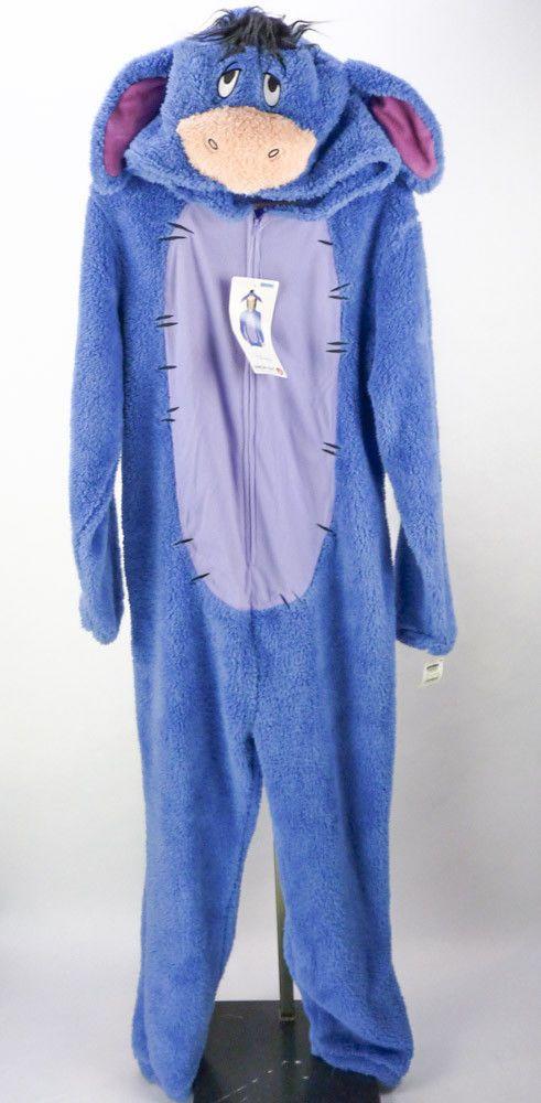 6e3eca86f6ce Eeyore Adult Size Union Suit Hooded Pajamas NEW Mens M Costume Cosplay  Disney  Disney  FootedPajamas