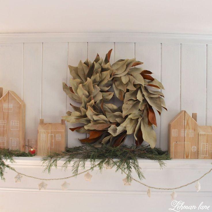 DIY Cedar Post House for Christmas