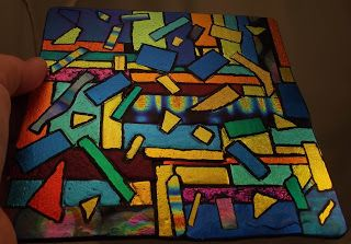 DEBORHREAD.COM: Fused Glass - 3rd Panel - outlined