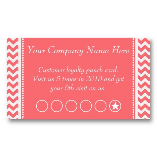 Rose Pink Chevron Promotional Punch Card Stationary Etc Pinterest Salons Cards And