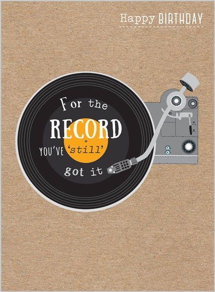 Everyday Ranges » M1516 » Retro Vinyl - Clare Maddicott Publications - Greeting cards, gift wrap & stationery