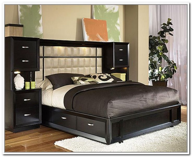 Bed Frame Storage Headboard