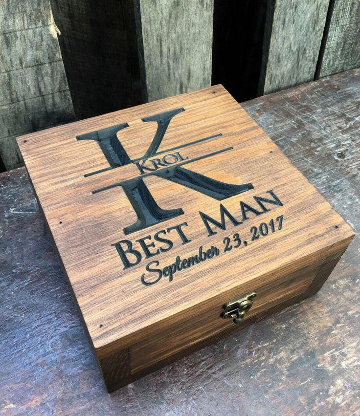 Wedding Gift Memory Boxes : Gift box- Keepsake boxMemory BoxBestman boxGroomsmen box ...