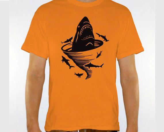 "New ""Shark Tornado"" Unisex Tshirt for a Sharknado Party, Friend, Party, Boyfriend, Husband, Fiance, Gift on Etsy, $16.95"