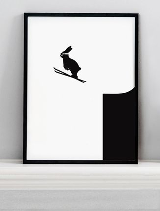 MUST have :) Ski Jumping Rabbit Screen Print