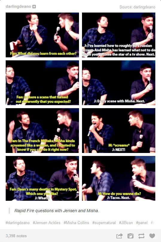 Jensen Ackles and Misha Collins | Supernatural | Pinterest