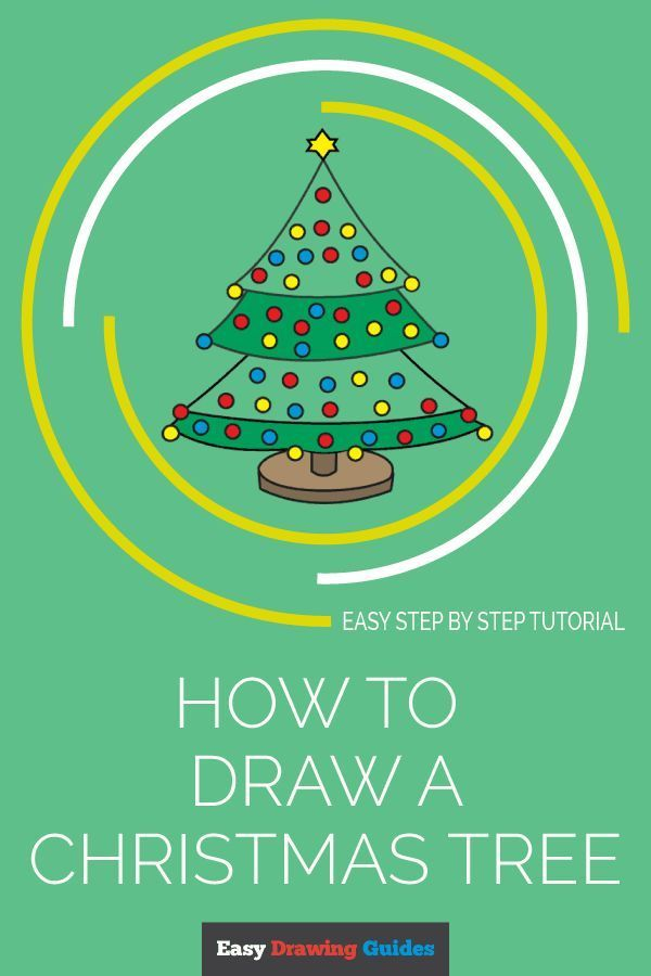 How To Draw A Christmas Tree Drawing Tutorials For Kids Christmas Tree Drawing Guided Drawing