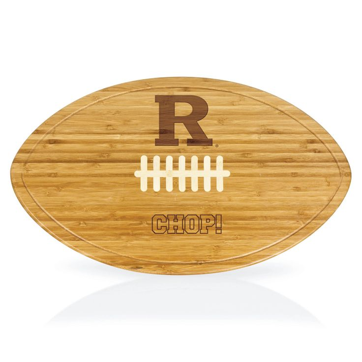 Rutgers Scarlet Knights Kickoff Football Shaped Carving Board