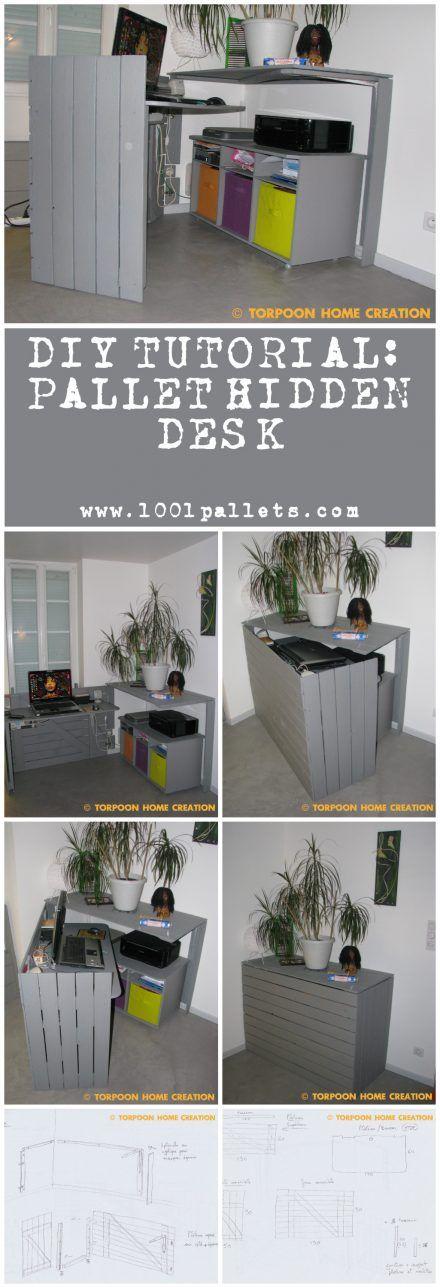 Diy Tutorial: Pallet Hidden Desk