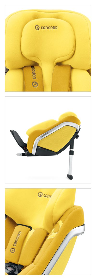 CRS/children's car seat CONCORD REVERSO. Developed by whiteID Integrated Design and CONCORD design & developement.