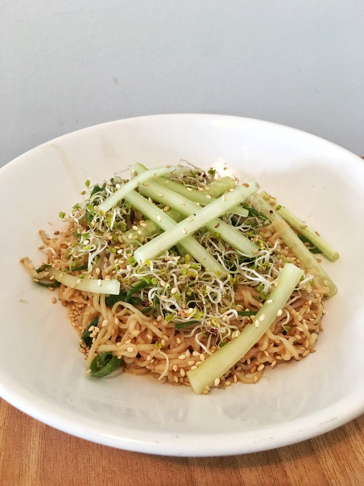 Sesame Noodles with Spring Onions