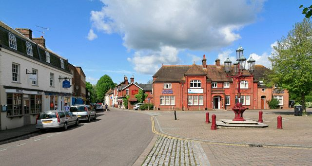 This is the Market place in Ringwood, Hampshire - the heart of the town.