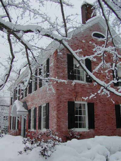 The Old Brick Tavern in winter, Townshend,  Vermont
