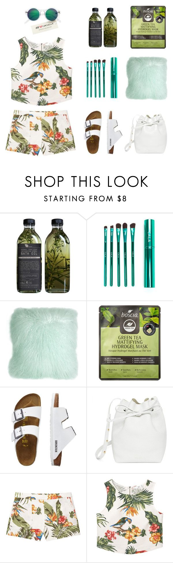 """""""natural tropical day 🍹 welcome 🍹 in Brasil 🍲"""" by jasmimestefany ❤ liked on Polyvore featuring AMBRE, Pillow Decor, Boscia, TravelSmith, Mansur Gavriel, MANGO and H&M"""