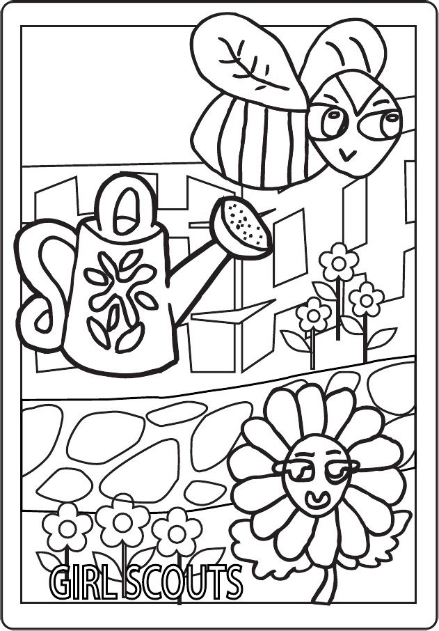 This is a picture of Rare Daisy Scouts Coloring Pages