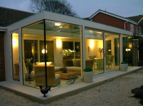 13 best images about conservatory on pinterest rear for Modern garden rooms london