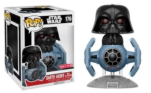 Darth Vader in Tie Fighter Pop! Deluxe Darth Vader is coming at you in his Tie Fighter!    This Pop! Deluxe is available at Target mid- June!
