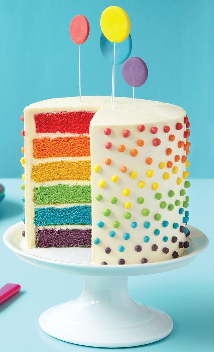 Southern blue celebrations rainbow cake cupcake ideas for Decoration layer cake