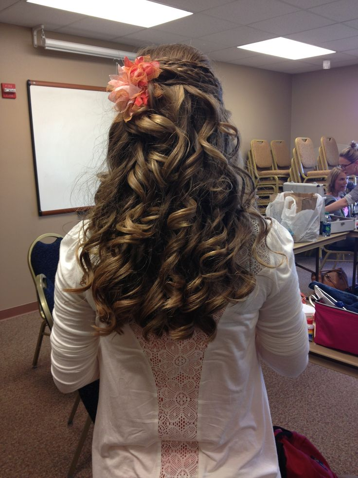 Wedding Hairstyles For Junior Bridesmaids : Junior bridesmaids bridesmaid hair and on