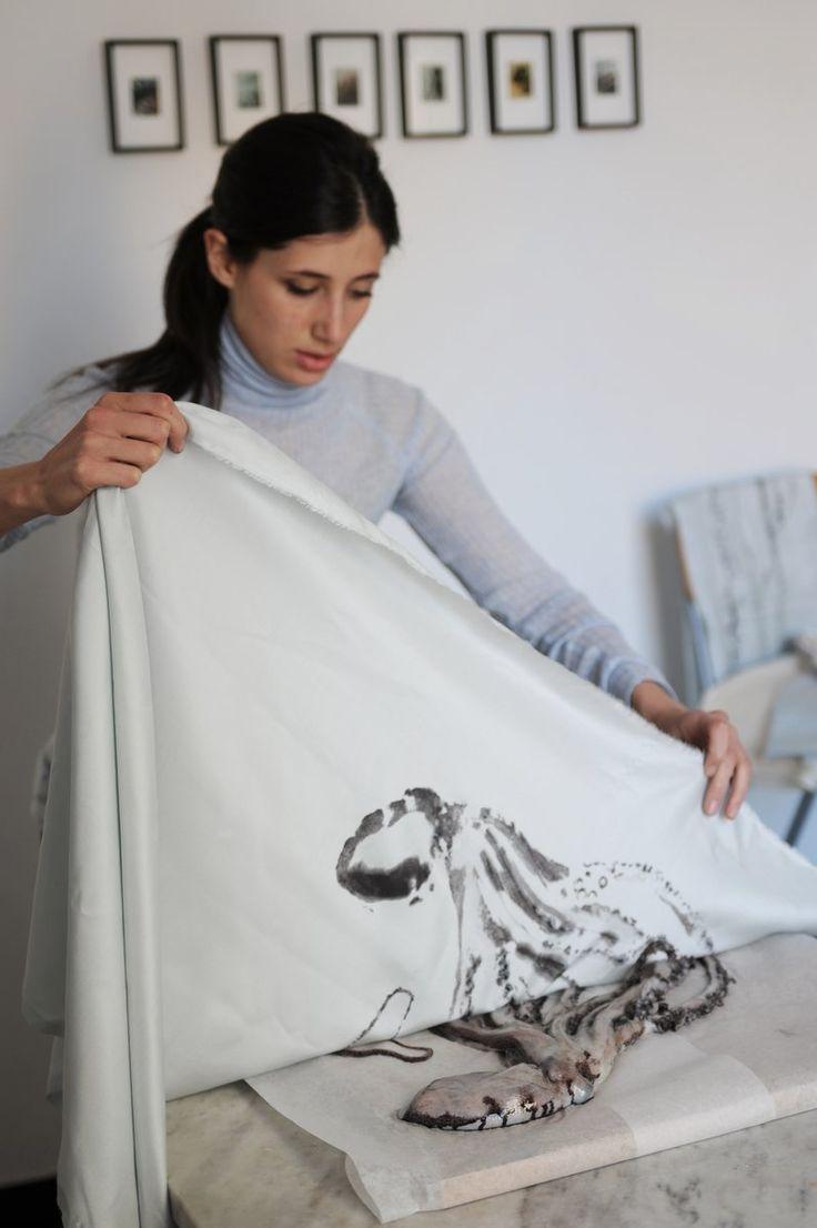 Gyotaku Print • Trepesci • Octopus II Scarf