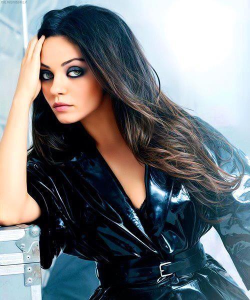 Mila Kunis- Black/brown ombre hair