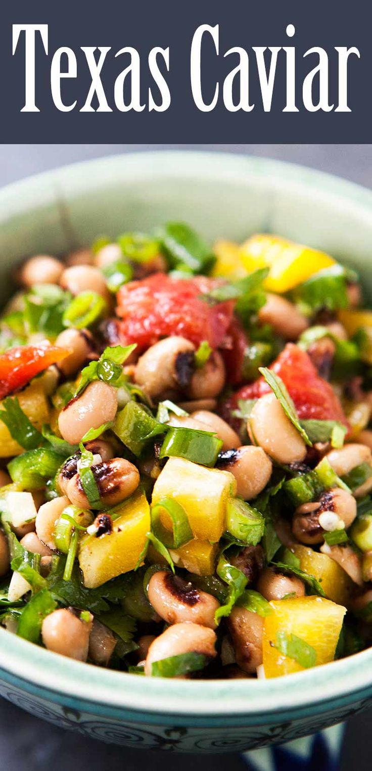 Gotta try this Texas Caviar that's loaded with black-eyed peas!