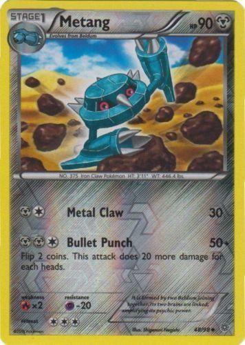 Metang Reverse HOLO #48/98 Pokemon Card, NM Ancient Origins Pokemon Card PACK FRESH