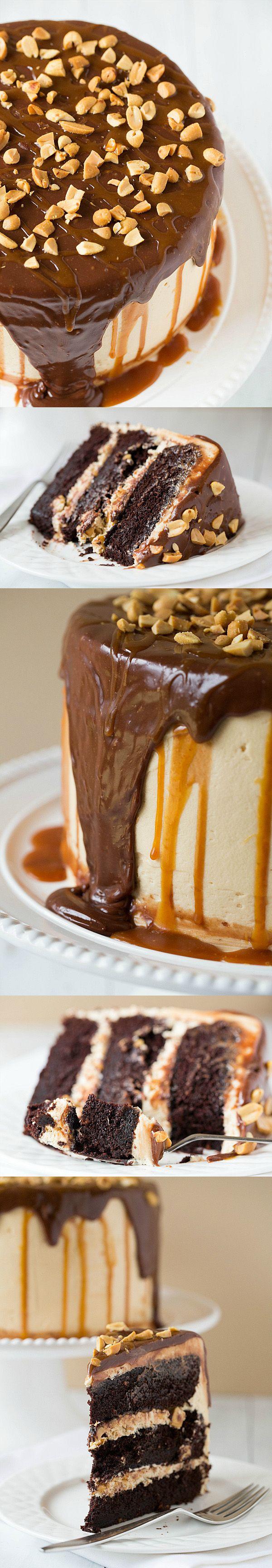 Tarta estilo Snickers / http://www.browneyedbaker.com/