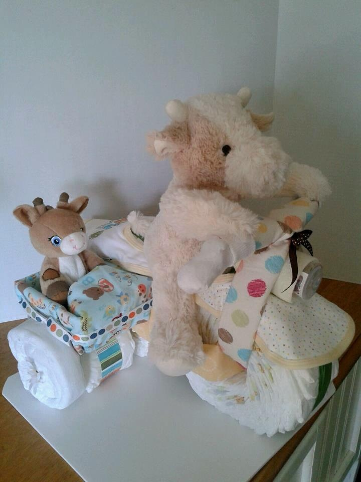How To Make Puppy Diaper Cake