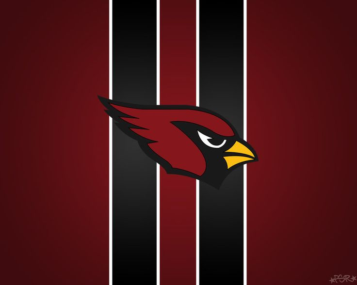 Arizona Cardinals Striped Wallpaper