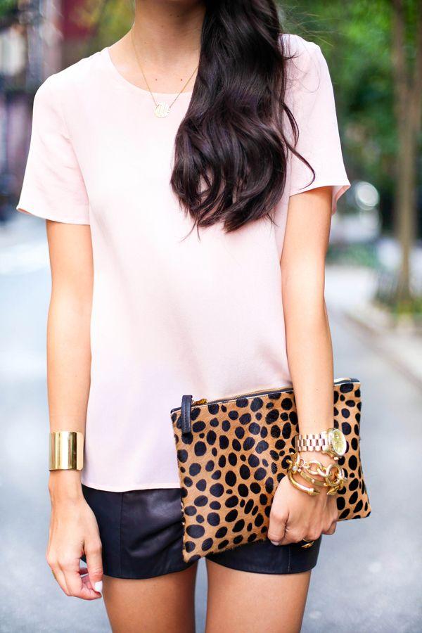 Leather + Blush.