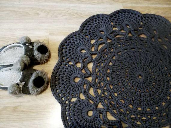 Crochet tappeto tappeto all'uncinetto modello Centrino