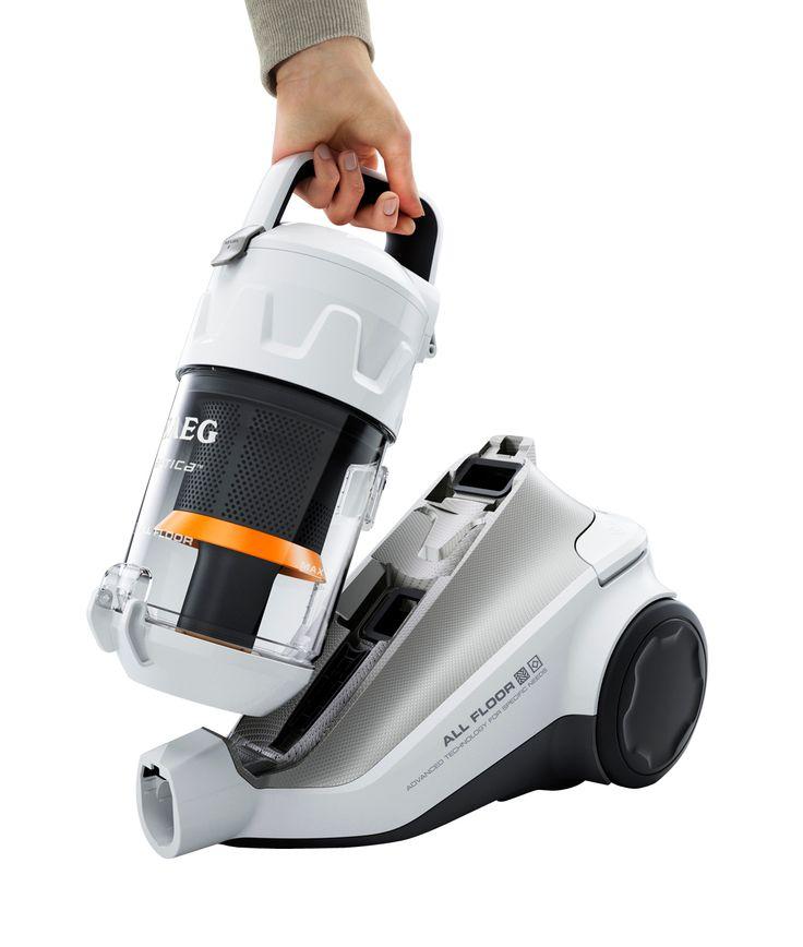 Vacuum cleaner, white, black, plastic, transparent