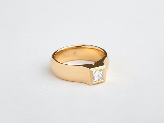 Glorious Princess Cut 0.40Ct 14k Yellow Gold Valentine Special Ring Good  Quality #uniquegemstone17 #