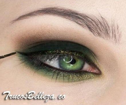 Makeup / sombras en verde