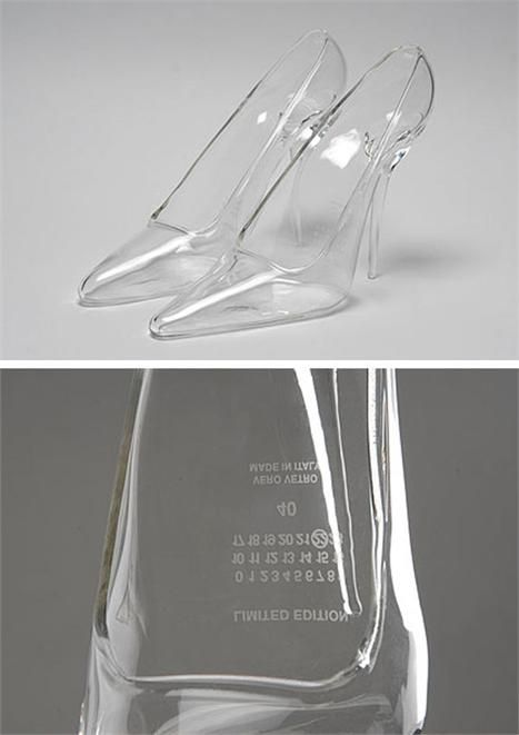 Maison Martin Margiela Cinderella shoes...  transparent heels AWSOMEE
