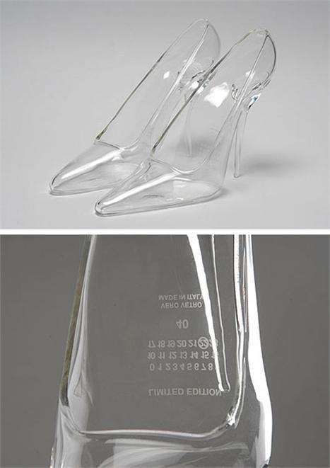 Maison Martin Margiela Cinderella shoes...  transparent heels AWSOMEE