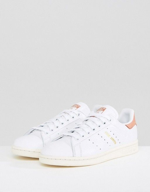 best website 7bb4d 3612a adidas originals white and coral stan smith sneakers. asos. white and coral.