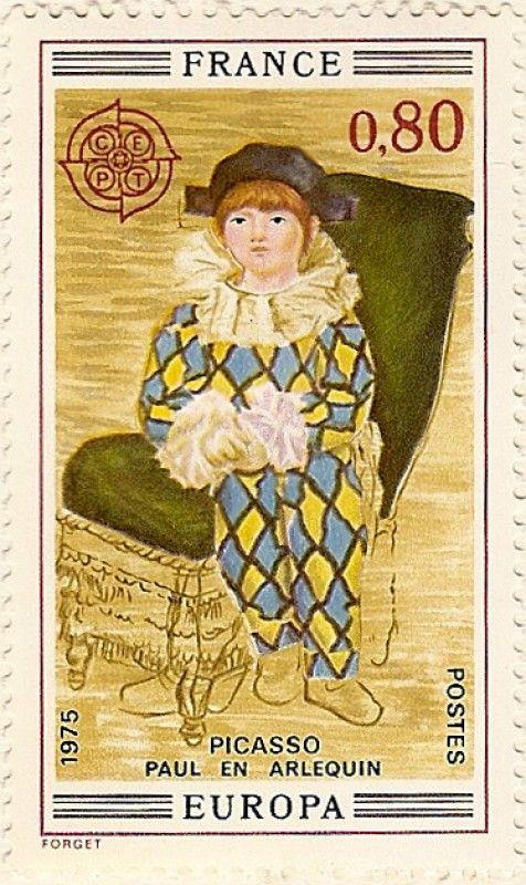 Paul en Arlequin Picasso (sello)