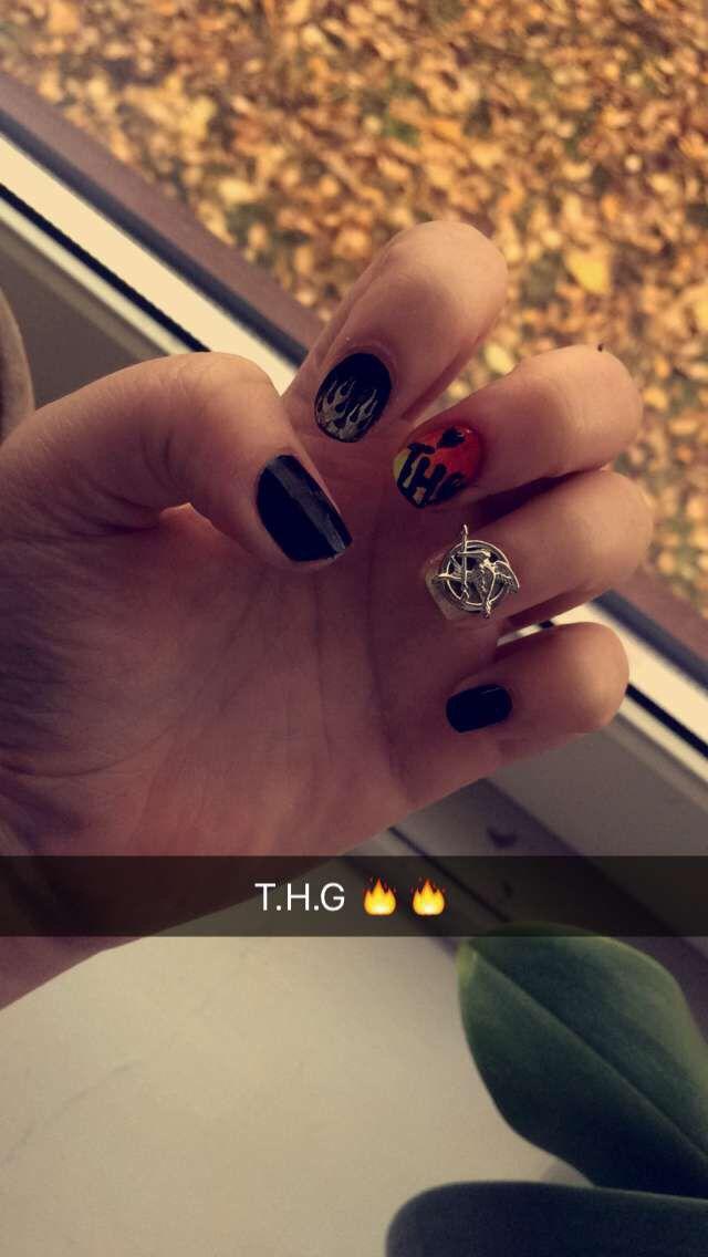 The Hunger Games Nail Art