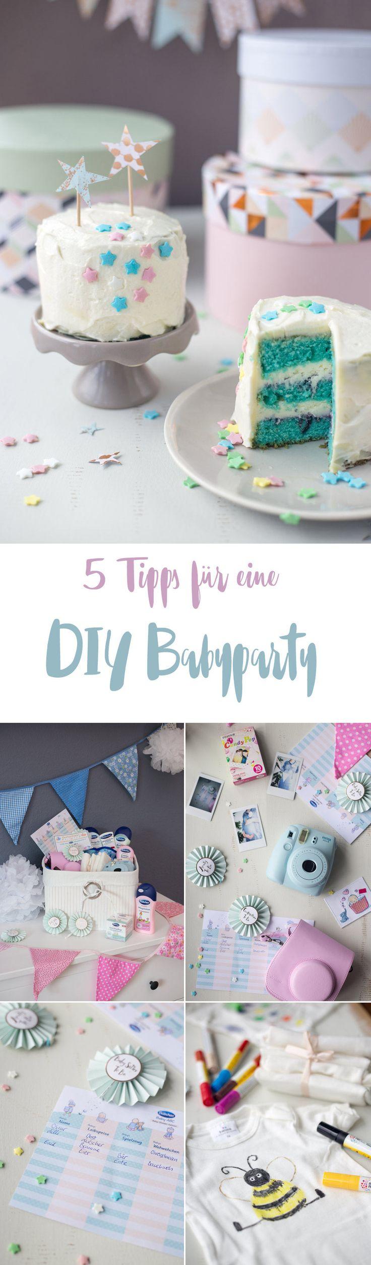 5 Tipps für eine DIY Baby Shower – mit Gewinnspiel! DIY Babyparty Ideen
