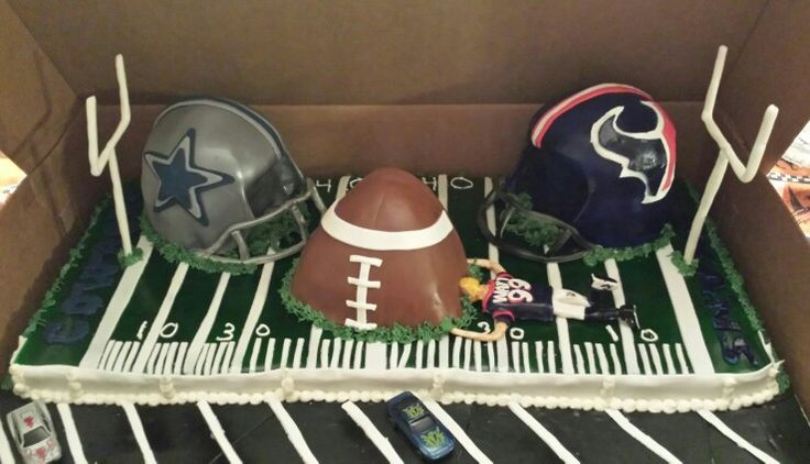 Texans vs Cowboys Game Day cake