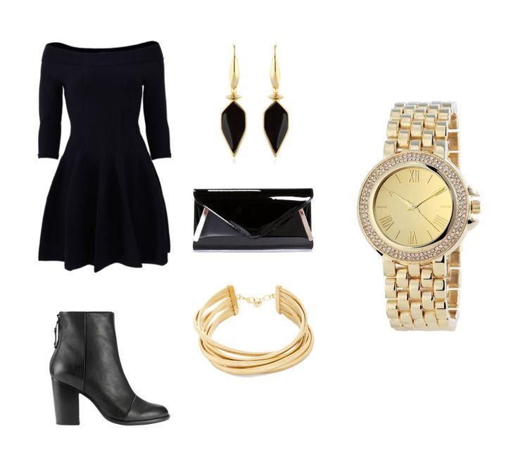 STÍLUS - a fekete koktél ruha örökérvényű, a mai trendeknek megfelelően kombináld egy kényelmes bokacsizmával és arany színű kiegészítőkkel. Így egyszerre lehetsz elegáns és dögös!