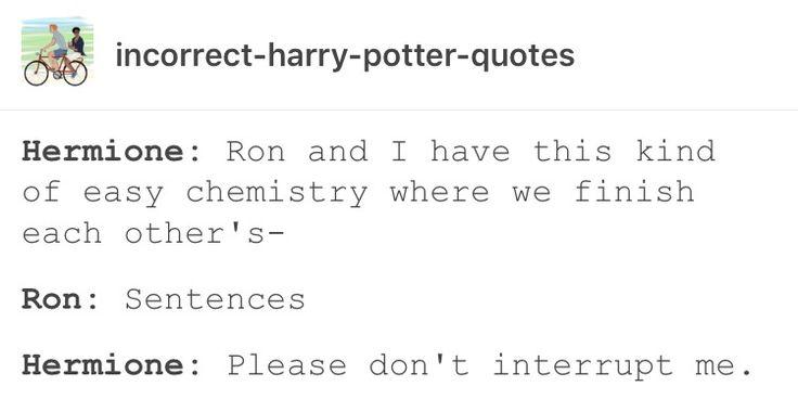 Hermione granger Ron Weasley funny humor
