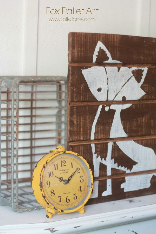 Oh my goodness! I just love both the clock and that fox painting!