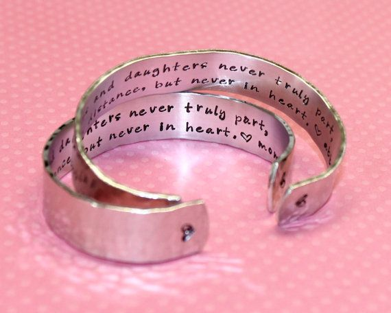 Hey, I found this really awesome Etsy listing at http://www.etsy.com/listing/159680736/2-piece-set-mother-daughter-bracelets