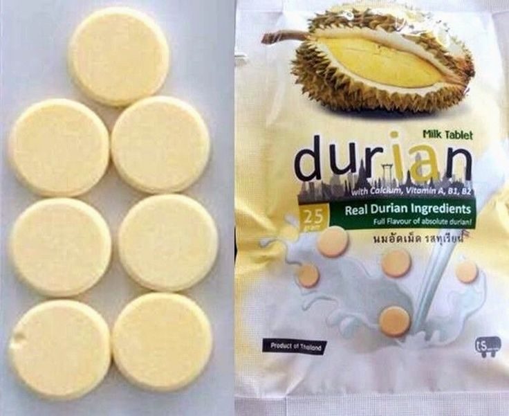 Milk Tablet Durian Candy Fruit Thai Snack Sweet Party Picnic Delicious 25g x 10  #MilkTabletDurian