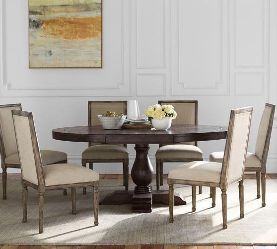 Lorraine Pedestal Table #potterybarn