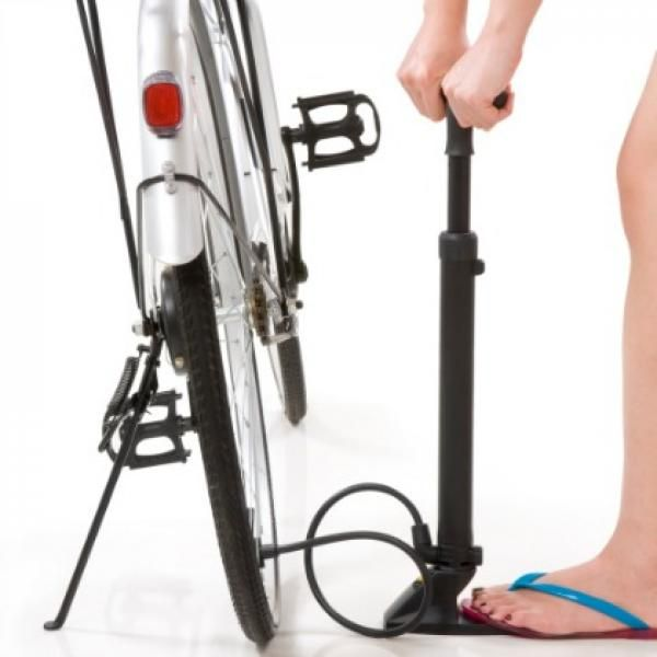 """31 Biking Tips from Elite Female Cyclists  #1 """"Get familiar with checking your tire pressure. Lots of women run way too much. Lower pressure helps with traction, cornering, and comfort while riding. Buy a gauge at a bike shop, start around 25 to 27 psi (or 110 psi for road bikes), and work from there. Feel free to play around with it and see what works for you."""" — Georgia Gould, 33, Luna Pro Team -"""
